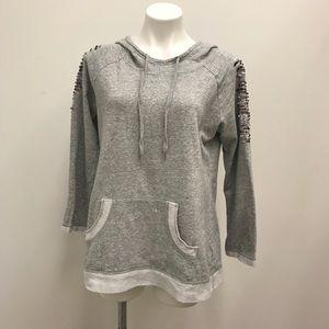 Soft Surroundings Heathered Grey Hoodie Size M
